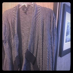 Navy Striped Coverup